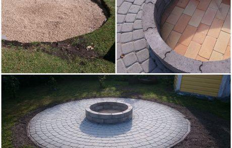 Lõkkealus-grillalus-grillnurk-uunikivi Pärnus ja pärnumaal