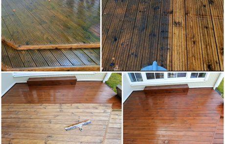 Terrassi puhastus terrassi õlitamine Pärnus ja Pärnumaal